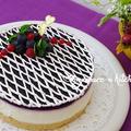 ×ブルーベリーのレアチーズケーキ×