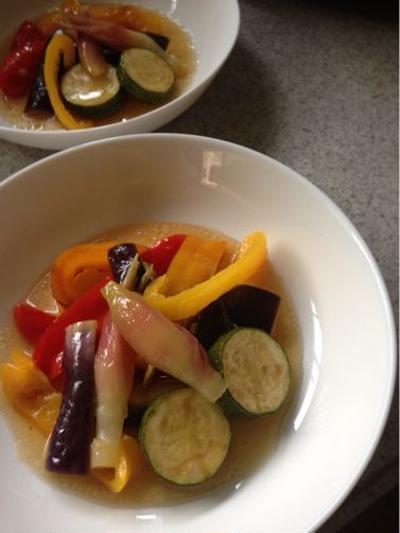 夏野菜の揚げ浸し。