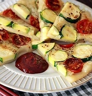 トマトとズッキーニのジューシーチヂミ