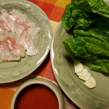 鯛の刺身~「三食ごはん 海辺の牧場編」の料理です♪