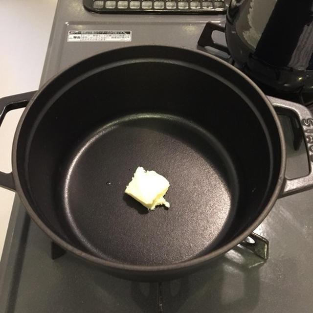 ストウブでハンバーグとじゃがいもとベーコンのミルクスープ