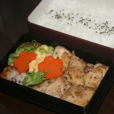 6月25日  鶏肉の スパイシー焼き弁当(練習)