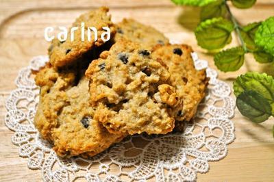 チョコチップとくるみのドロップクッキー