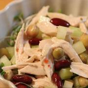 ■鶏ささみとミックスビーンズの、簡単サラダ
