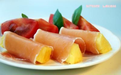 生ハムパイナップル(レシピ)
