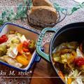 STAUB鍋でチキンと野菜とカマンベールのブランデーロースト&デリサンド