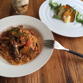 11月は秋の味覚を楽しむ! 秋刀魚のパスタ&オニオングラタンスープ