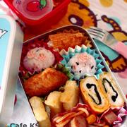 幼稚園のお弁当(偏食年少さん)*バレたから揚げ!偏食ってしんどいね。