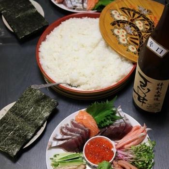 ゆず香る!手巻き寿司