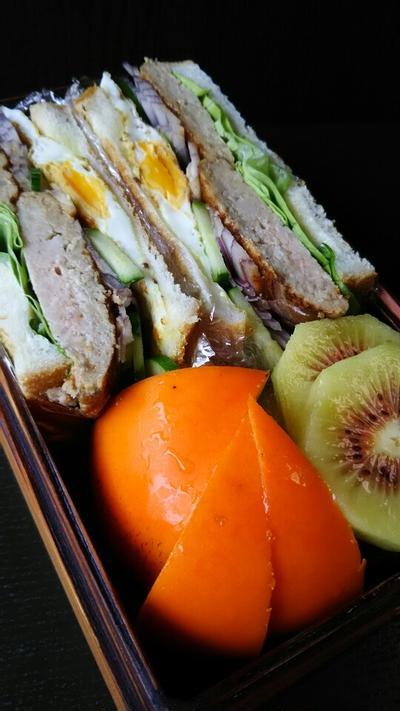 ハンバーグサンドイッチ弁当