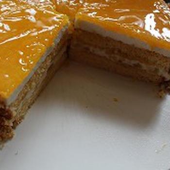 オレンジのハチミツムースケーキ