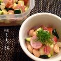 夏野菜をスプーンでわしわし食べられる ズッキーニと大豆のさっぱりサラダ by 板ママさん