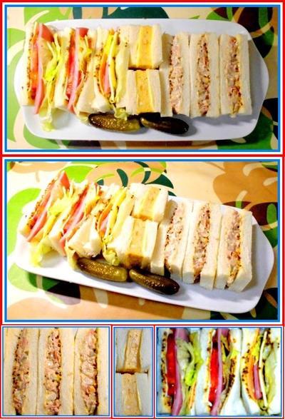 ブランチは、サンドイッチで