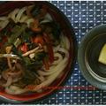 常備菜で超簡単おうどん♪ by kewpieさん