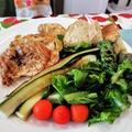 宴会の翌日は、のんびりと   ~ おろし蕎麦と鶏もも肉のにんにく麺つゆソテー