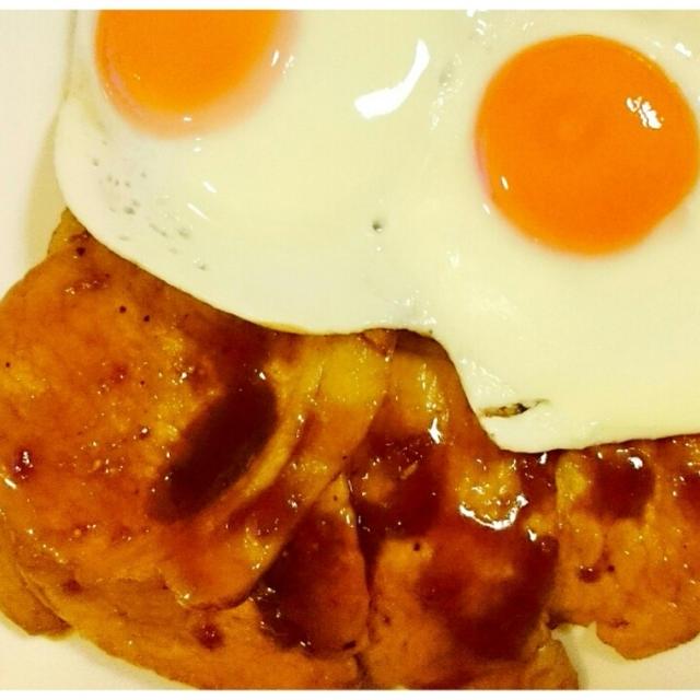 【Recipe:白米おかわり必須☆生姜焼き 目玉焼きのっけ】 お仕事1週間