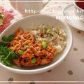 バジルとナッツが香る爽やかご飯&作り置きチキントマトソース♡蓮根と枝豆たっぷり by MOMONAOさん