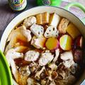 3種鶏と秋の味覚鍋 合わせ調味料が決め手