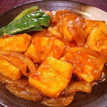 【豆腐の生姜焼き】
