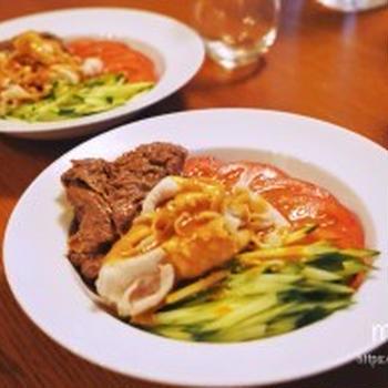 焼きしゃぶと冷しゃぶで、お野菜とお肉の糖質オフなダイエットランチ