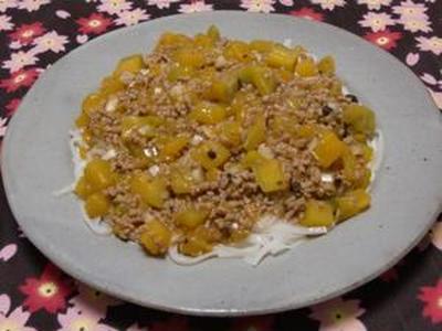 暑い時はピリ辛が美味しい!! 南瓜が美味しい!! 麻婆南瓜麺