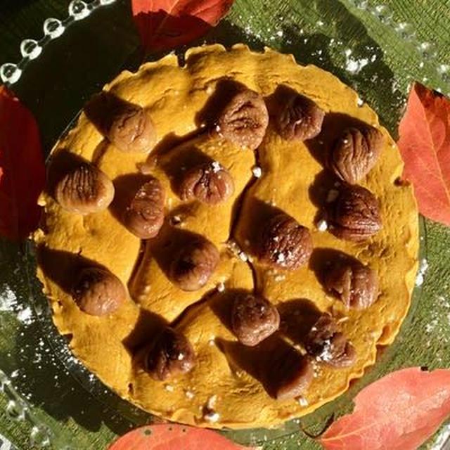 南瓜と栗の洋風蒸しケーキ