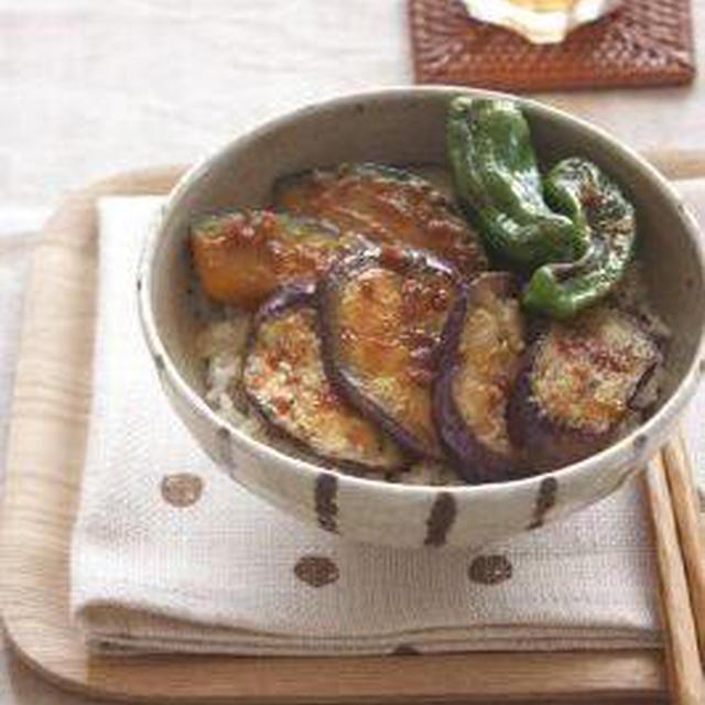 ガッツリ系★夏野菜の梅照り焼き丼