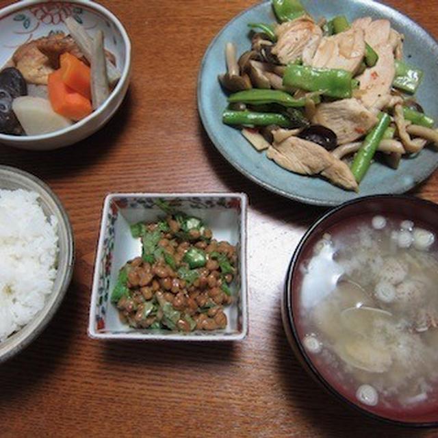 鶏肉と野菜のオイスターソース炒め