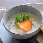 温か豆乳スープの朝ごはん