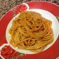 トラーパニの郷土料理「スパゲッティ・アーモンドとトマトのペースト