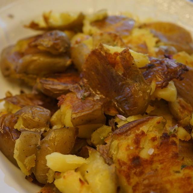 つぶしポテトのオーブン焼きとRibeyeステーキで誕生日会