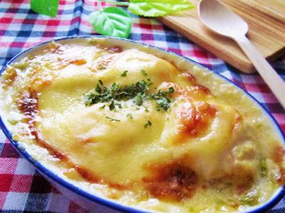 大きいとろけるスライスチーズde豆腐の和風グラタン♡
