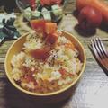 簡単☆炊飯器で丸ごとトマトと人参の塩麹バターライス