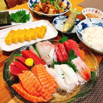 手巻き寿司。