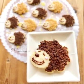 《クッキー&モニター》アフロスヌーピー♡作り方♡オイシックス様・エポック社様より