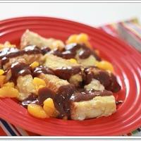 みかんのフレンチトースト♪キャドバリー☆チョコレートソースがけ☆