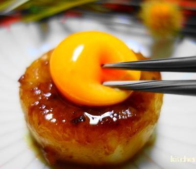 ガリバタ大根のステーキ☆いい香りと黄身とろ-りの誘惑