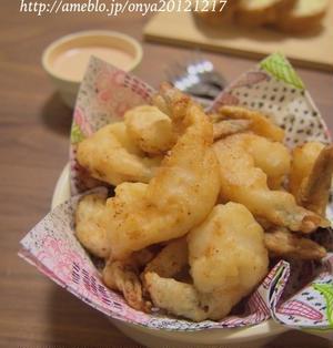 【簡単カフェ飯】サクサクふんわり♪おつまみやお弁当にも!海老のお手軽フリッター♪
