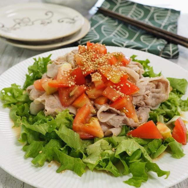【サラダぶたしゃぶ】豚肉がパサつかない、しっとり美味しい豚しゃぶの作り方。