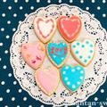 【バレンタイン】アイシングクッキー基礎講座ハートのアイシングクッキーを作る【初心者さん用】