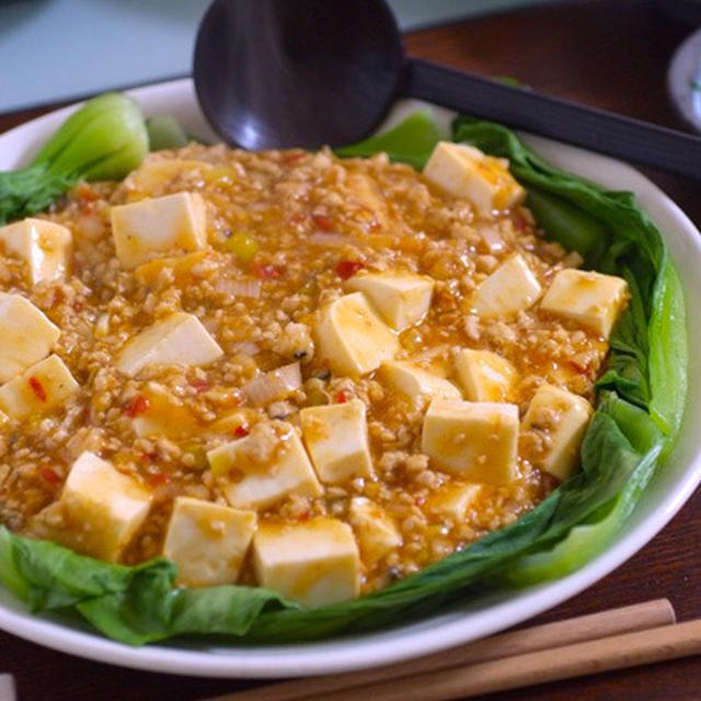 鶏そぼろリメイクで麻婆豆腐♪あっさりで好みです^^