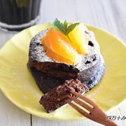 オーブン不要!レンジで簡単♪濃厚チョコレートケーキ