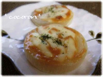 玉葱味噌マヨチーズ焼&卸しキムチ&鶏天