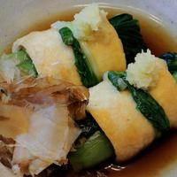 シャキシャキ群馬県産小松菜をお揚げで巻いて☆小松菜のお揚げ巻き♪