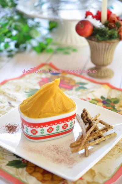 安納芋のきな粉クリーム♬ カリッとゴボウスティックと一緒に^^