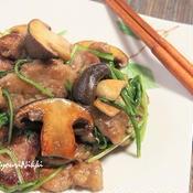 豚ヒレ肉ときのこの黒胡椒炒め