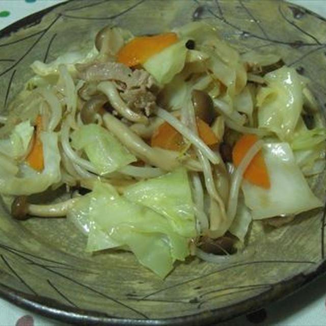 野菜炒め、汁まで飲みたくなる美味しさに