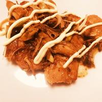 鶏肉とネギ&えのきのマヨポン炒め