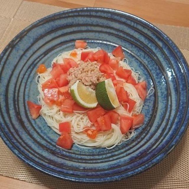 カッペリーニ風トマトとツナのそうめん