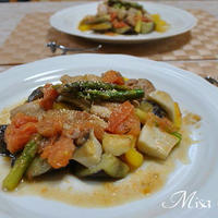 鶏肉と野菜の焼き蒸し